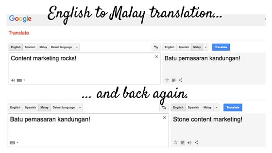 Getting stoned: Fun with Google Translate.