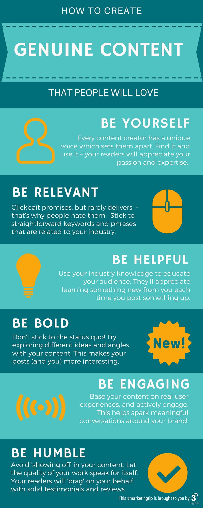 How to Create Genuine Content (Infographic)